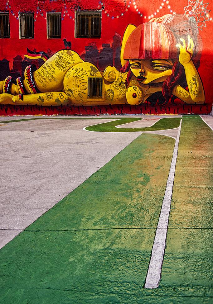 Street art from Danjer in the streets of Zaragoza, Spain.