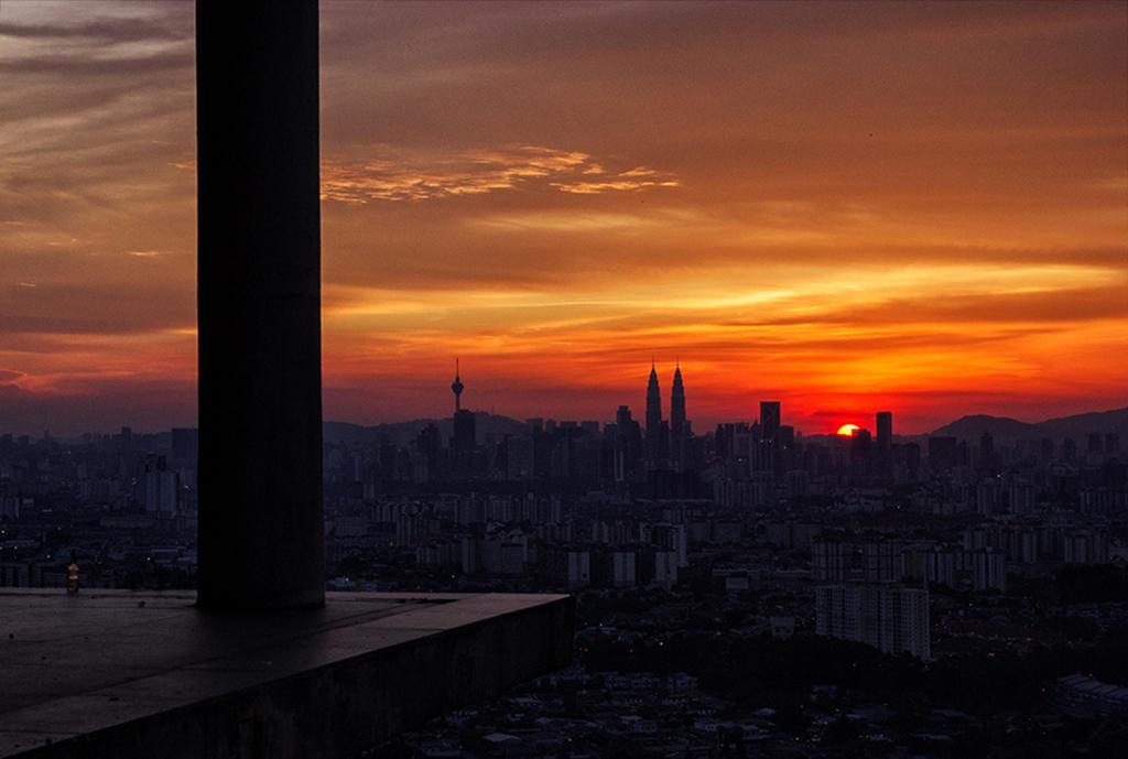 View over KUala Lumpur from Ampang viewpoint