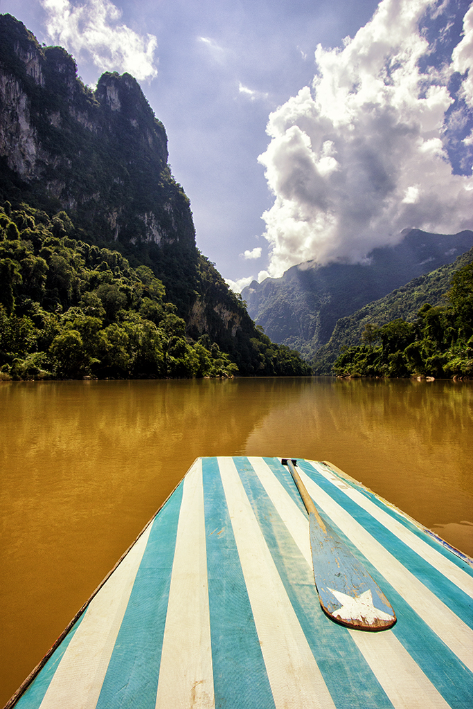 Boat travel in Northern Laos
