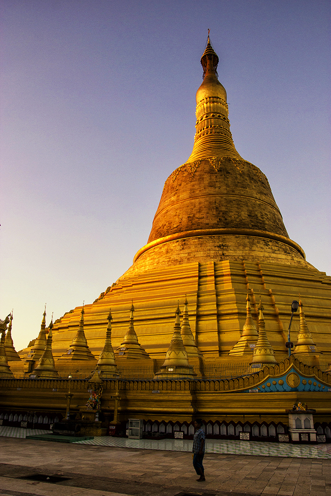 The biggest pagoda in Myanmar standing 114m high in Bago.