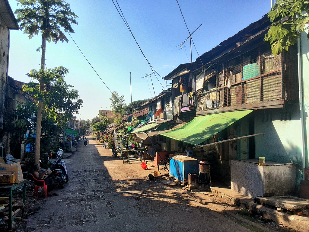 The backroads of Mawlamyine or Moulmein in Myanmar