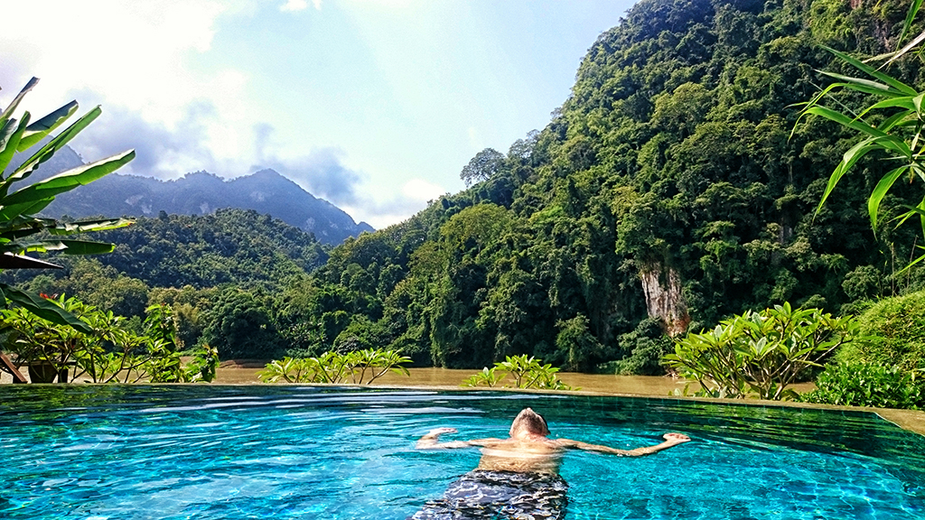 The northernmost pool in Laos